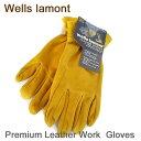 【メール便送料無料】ウェルズ ラモント 『本革 手袋』Wells Lamont Premium Leather Work Gloves プレミアム レザー …