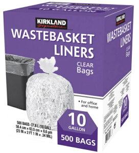 【送料無料】カークランドシグネチャー 『ゴミ袋 10ガロン 』37L x 500枚 透明ごみ袋  ゴミふくろ カークランド コストコ 通販