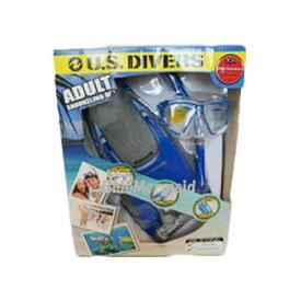 訳あり U.S.DIVERS 大人用 シュノーケル シュノーケリング マスク フィン 4点セット 『 U.S.DIVERS 』シリコン スノーケル スノーケリング スキューバダイビング