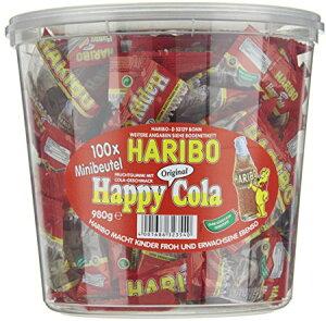 【送料無料】HARIBO ハリボー グミ ミニゴールドベア 『ハリボー コーラ』 グミキャンディ ドラム 980g 100袋 Gold Baren コストコ 通販 大量 濃縮還元果汁 パイナップル レモン オレンジ ラズベ