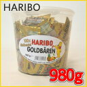 HARIBO ハリボー グミ ミニゴールドベア 『ハリボー』 グミキャンディ ドラム 980g 100袋 Gold Baren コストコ 通販 大量 濃縮還元果...