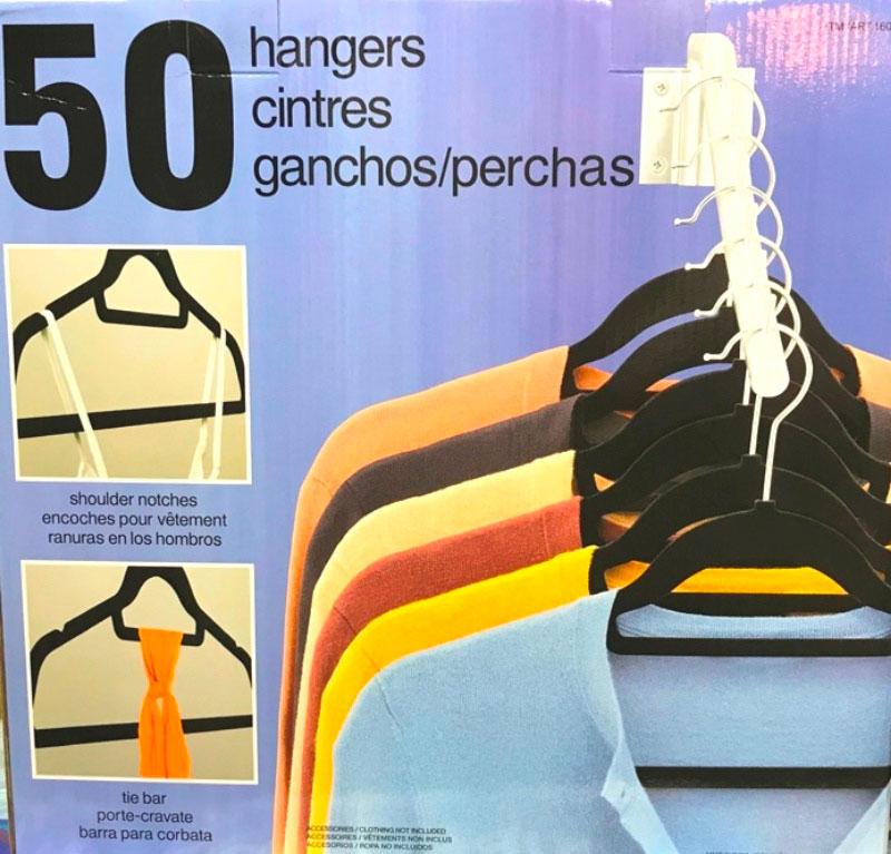 すべらないハンガー 50本 『ハンガー 』滑らないハンガー 通販 ノンスリップハンガー コストコ COSTCO すべりにくい antiglissement スリムハンガー 落ちにくい 薄型ハンガー 滑らない 収納 省スペースハンガー ノースリップ