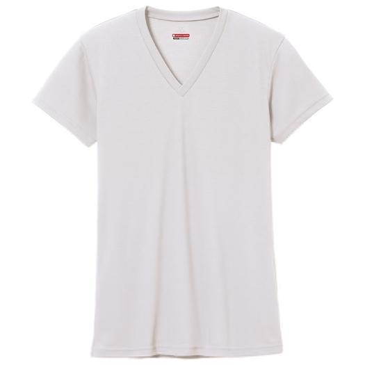 ミズノ MIZUNO ブレスサーモエブリ Vネック 半袖シャツ 男性用 オフホワイト[C2JA560202]
