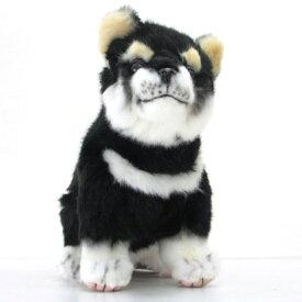 [ハンサ][7249]黒柴(仔)-Shiba DOG Pupコロコロ跳ね出しそうな、ハツラツとした表情!HANSAのリアルな動物ぬいぐるみです。