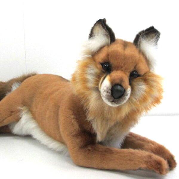 [ハンサ][4765]アカギツネ-RED FOX-フッサフサの尻尾が堪らない!!!HANSAのリアルな動物ぬいぐるみです。