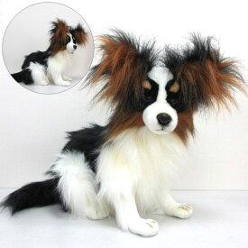 ハンサ[3994]パピヨンお耳がふっさふさ!お顔はキリッとしています。HANSAのリアルな動物ぬいぐるみです。