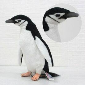[ハンサ][7082]ヒゲペンギンHANSAのリアルな動物ぬいぐるみです。なぜココに線が?!まるで帽子のヒモのようなアゴのラインに注目!chinstrap penguinペンギン グッズ ぬいぐるみ 雑貨