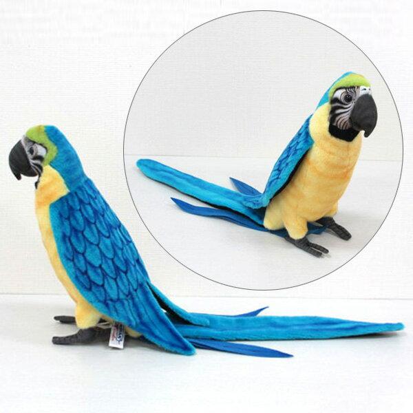 [ハンサ]青黄コンゴウインコ[3068]HANSAのリアルな動物ぬいぐるみです。