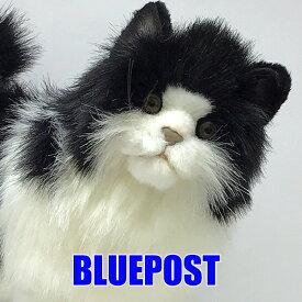 【入荷済】[ハンサ][4221]シロクロネコ-black and white cat-「ぶみゃぁぁぁ」って、鳴きそうな貫禄。hansa ぬいぐるみ