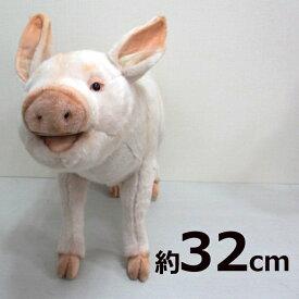 [ハンサ][6347]ブタ 63-pig standing-hansa ぬいぐるみ ぶたHANSAのリアルな動物ぬいぐるみです。ブタ PIG グッズ ぬいぐるみ離島・一部地域・海外は別途中継料が発生致します