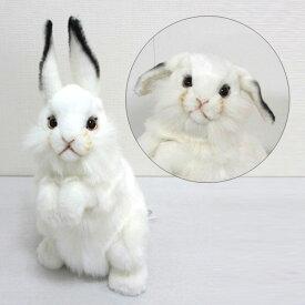 [ハンサ][3313]シロウサギ-WHITE RABBIT-おとぎ話に出てくるようなうさぎさんです。HANSAのリアルな動物ぬいぐるみです。ウサギ・ラビット