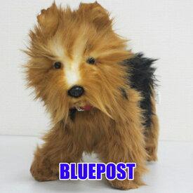 【画像の子が届く♪】[ハンサ][5900][No.1]ヨークシャーテリア(※紙製タグが外れています)-YORKSHIRE TERRIER-少しカットしたかのような毛の長さ♪HANSAのリアルな動物ぬいぐるみです。