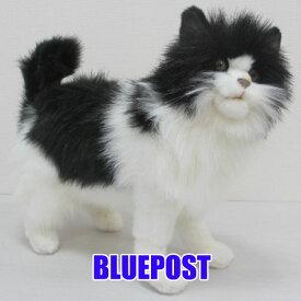 [ハンサ][4221]シロクロネコ-black and white cat-「ぶみゃぁぁぁ」って、鳴きそうな貫禄。hansa ぬいぐるみ