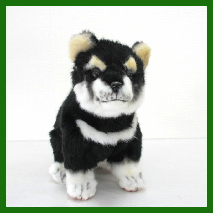 ハンサ[7249]黒柴-Shiba DOG Pupコロコロ跳ね出しそうな、ハツラツとした表情!HANSAのリアルな動物ぬいぐるみです。