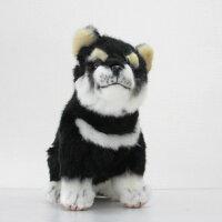 ハンサ[7249]黒柴-ShibaDOGPupコロコロ跳ね出しそうな、ハツラツとした表情!HANSAのリアルな動物ぬいぐるみです。
