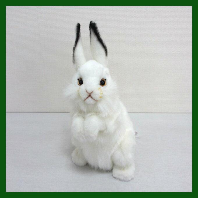 耳が曲がります。[ハンサ][3313]シロウサギ-WHITE RABBIT-おとぎ話に出てくるようなうさぎさんです。HANSAのリアルな動物ぬいぐるみです。ウサギ・ラビット【うさぎまつり】
