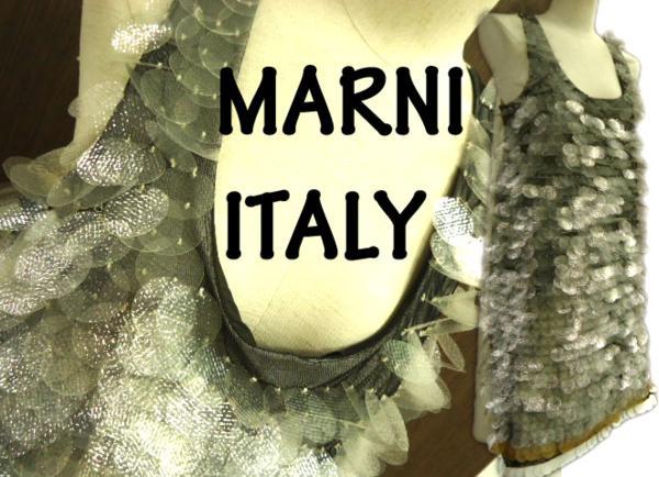 【中古】美品 イタリア製◆マルニMARNI スパンコールドレス ワンピ
