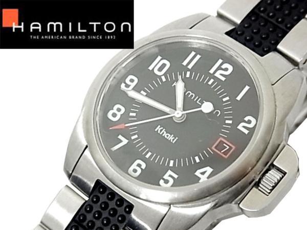 【中古】◇美品 動作確認済◇ハミルトン カーキ HAMILTON Khaki 6301 クォーツ ボーイズ 腕時計