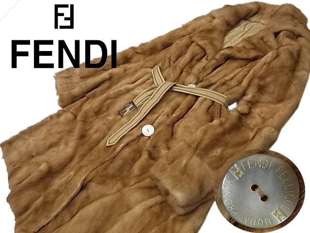 【中古】◇最高級◇フェンディ FENDI◇高級セーブル毛皮ロングコート リバーシブル 毛艶 毛並良好 2種類ベルト付き 良品 イタリア製