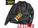 【未使用品】●Vanson バンソン USA製/40 レザーライダースジャケット 袖LENZIP
