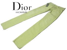 【未使用】◇タグ付 エディー期◇ディオールオム◇カラーデニムパンツ スキニーパンツ ストレート 人気モデル Dior HOMME