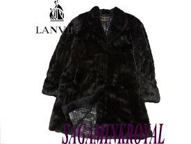 【中古】美品 最高級○ランバン サガミンクロイヤル 毛皮ロングコート 黒
