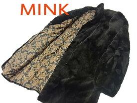 【中古】◇高級毛皮◇サガミンク シェアードミンクコート 毛艶 毛並 皮質 良好 裏ペイズリー柄 SAGA MINK レディース