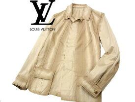 【中古】○良品 ルイヴィトン スプリングジャケット コットンコート デザインジャケット 春物 メンズ LOUIS VUITTON イタリア製 正規品 美ライン
