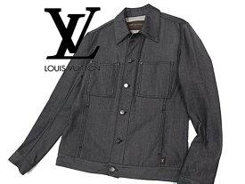 【中古】◇良品◇ルイヴィトン◇デザインジャケット デニムジャケット ブラック 人気モデル LOUIS VUITTON 春物 メンズアウター イタリア製