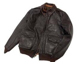 【中古】○リアルマッコイズ A-2 レザーフライトジャケット THE REAL McCOY'S レザーブルゾン 革ジャン メンズ 正規品 激シブ ホースレザー 馬革