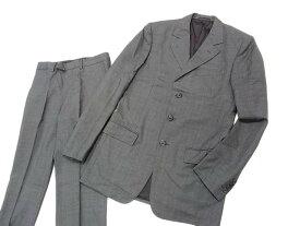【中古】美品○ルイヴィトン シングルスーツ ウールスーツ 秋物 メンズ セットアップ LOUIS VUITTON イタリア製 正規品 スーパー130'S グレー