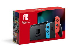 【エントリーで24倍★最大47.5倍★クーポン配布】 Nintendo Switch 本体 (ニンテンドースイッチ) Joy-Con(L) ネオンブルー/(R) ネオンレッド(バッテリー持続時間が長くなったモデル)