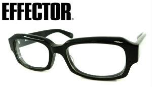EFFECTOR(エフェクター) octaver(オクターバ?) C-BK 【眼鏡 メガネ おしゃれメガネ 伊達メガネ 伊達眼鏡 黒縁 メガネ フレーム フルリム セルフレーム ブラック おしゃれ お洒落 かっこいい 誕生