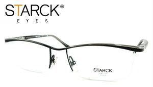 STARCK EYES(スタルクアイズ) SH9901 C-0064【眼鏡 メガネ おしゃれメガネ 伊達メガネ 伊達眼鏡 金属フレーム セルフレーム ナイロール ブラック シルバー 定番モデル おしゃれ お洒落 かっこいい