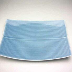 【白山陶器】 長方皿 (大) ブルー25,5cm「業務用としてもお薦めの商品です」〜長方皿(CHOUHOUZARA)〜お誕生日、結婚祝いプレゼント【創業明治元年の安心感】