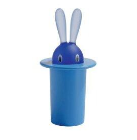 【90周年を記念しまして値下げさせて頂きます。4200円が3675円です】  【ALESSI(アレッシィ)】 Magic Bunny(マジックバニー) 楊枝入れブルー インテリア通販  【創業明治元年 140年 変わらぬ真心】