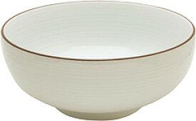 【白山陶器】 6寸 浅めん丼  白磁千段