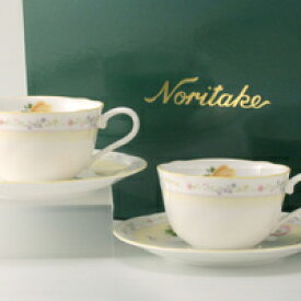 ジュヌ・フレール ティー・コーヒー碗皿 ペアギフトセット (ノリタケボーンチャイナ)