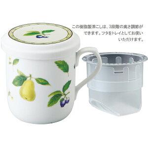 【ナルミ】フタ付マグカップ(果物)