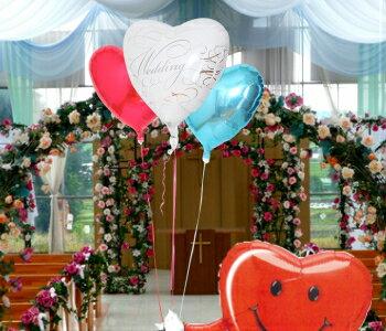 【送料無料】結婚式に!ハート君がお届け!選べるハートバルーンギフト