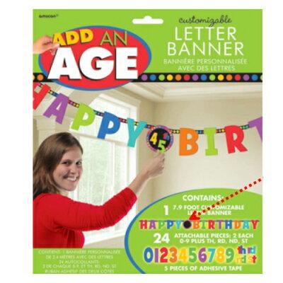 【送料無料】レターバナーマルチナンバー全年齢対応誕生日誕生会パーティーバルーン壁飾り