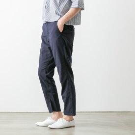 ☆D.M.G ドミンゴ レーヨン リネン混 テーパード トラウザー 4色 14-045L