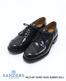 And SANDERS Sanders MILITARY DERBY SHOES RUBBER SOLE militaryderbyshewsloversole 1463B