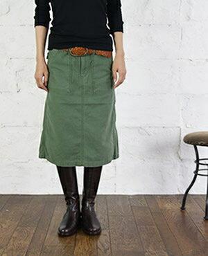 【ブルービート別注】【クーポン対象外】D.M.G ドミンゴ ベーカースカート 2色 17-219T