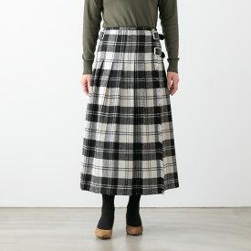 【クーポン対象外】O'NEIL OF DUBLIN オニール・オブ・ダブリン ロウウエスト プリーツ ラップスカート 5色 NOD1173