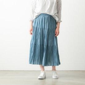 ROCK MOUNT ロックマウント リヨセル ラミー 無地 ティアード スカート 5色 SP9999 lyocell/ramie