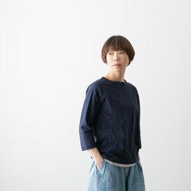 (メール便OK)・DANA FANEUIL ダナファヌル ムラ糸 七分袖 クルーネック カットソー 14色 D-538118
