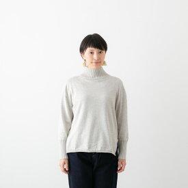 (メール便OK) maomade マオメイド ソフト コットン ハイネック プルオーバー 9色 941103