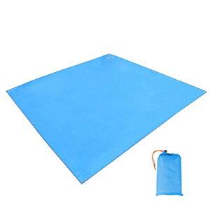 TRIWONDER タープ グランドシート 防水軽量 マルチシート たーぷテント 天幕 テントシート キャンプ アウトドア ブルーシート フットプリント フライシート 収納袋付き (ブルー)