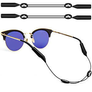 2個 眼鏡ホルダー ストラップ サングラスチェーン 眼鏡チェーン 眼鏡ストラップ  DLAND ナイロン製 スポーツ用 男女兼用  スポーツ・野外活動に対応